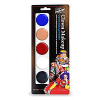 MEHRON Палитра кремового грима 5-Color Cream Palette - Clown, фото 1