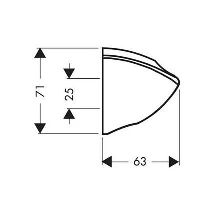 Кронштейн для ручного душа Hansgrohe Porter C 27521000, фото 2