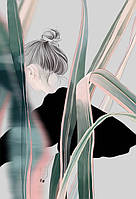 """Фотообои """"Девушка в листьях"""""""