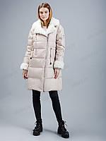 Коллекция зима 2020-2021! зимний модный пуховик clasna с мехом каракуля cw19d-729cq L, Xl, XXl