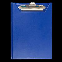Кліпборд-папка BUROMAX, А5, PVC, темно-синій