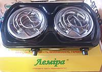Электроплита настольная двухконфорочная спиральная ТЭН Лемира (Украина) 2000W
