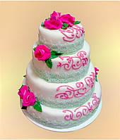 Торт Ажурный - Ажурный свадебный