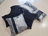 Комплект подушек черные с серым, 6шт, фото 2