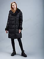 Коллекция зима 2020-2021! зимний модный пуховик clasna с мехом каракуля cw19d-729cq L, XL