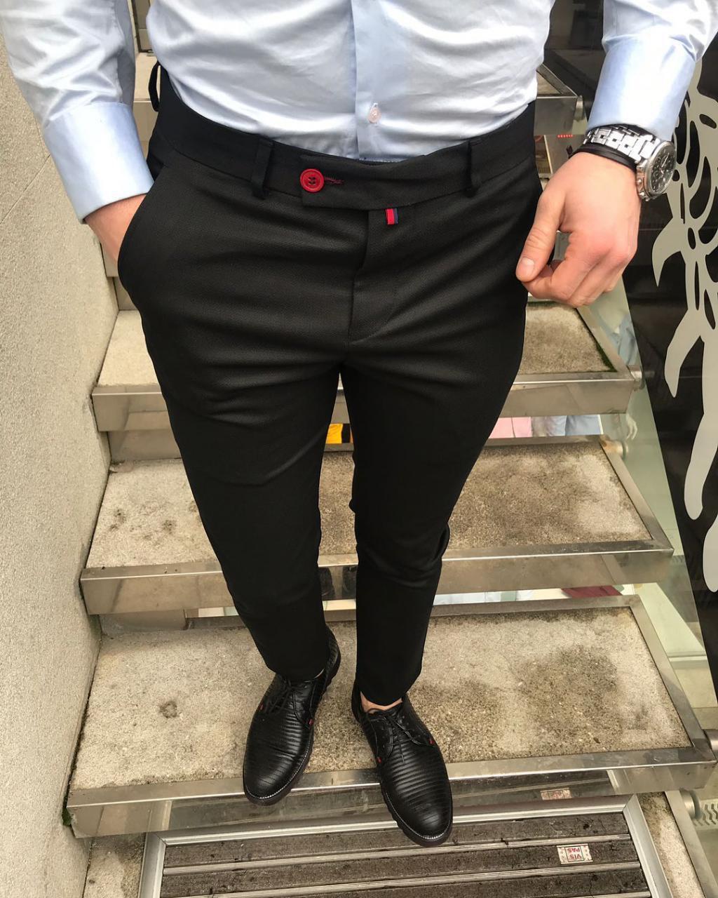 Мужские брюки классические черные Dj1