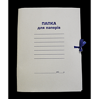 Папка на зав'язках картонна А4 BUROMAX картон, цільнокроєна
