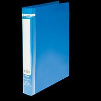 Папка на 2-х кільцях А4, JOBMAX, ширина торца 25 мм, синій