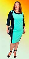 Элегантное женское батальное платье в расцветках, фото 1