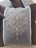 Комплект подушок шоколад з коронкою, 4шт, фото 2