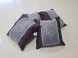 Комплект подушок шоколад з коронкою, 4шт, фото 3