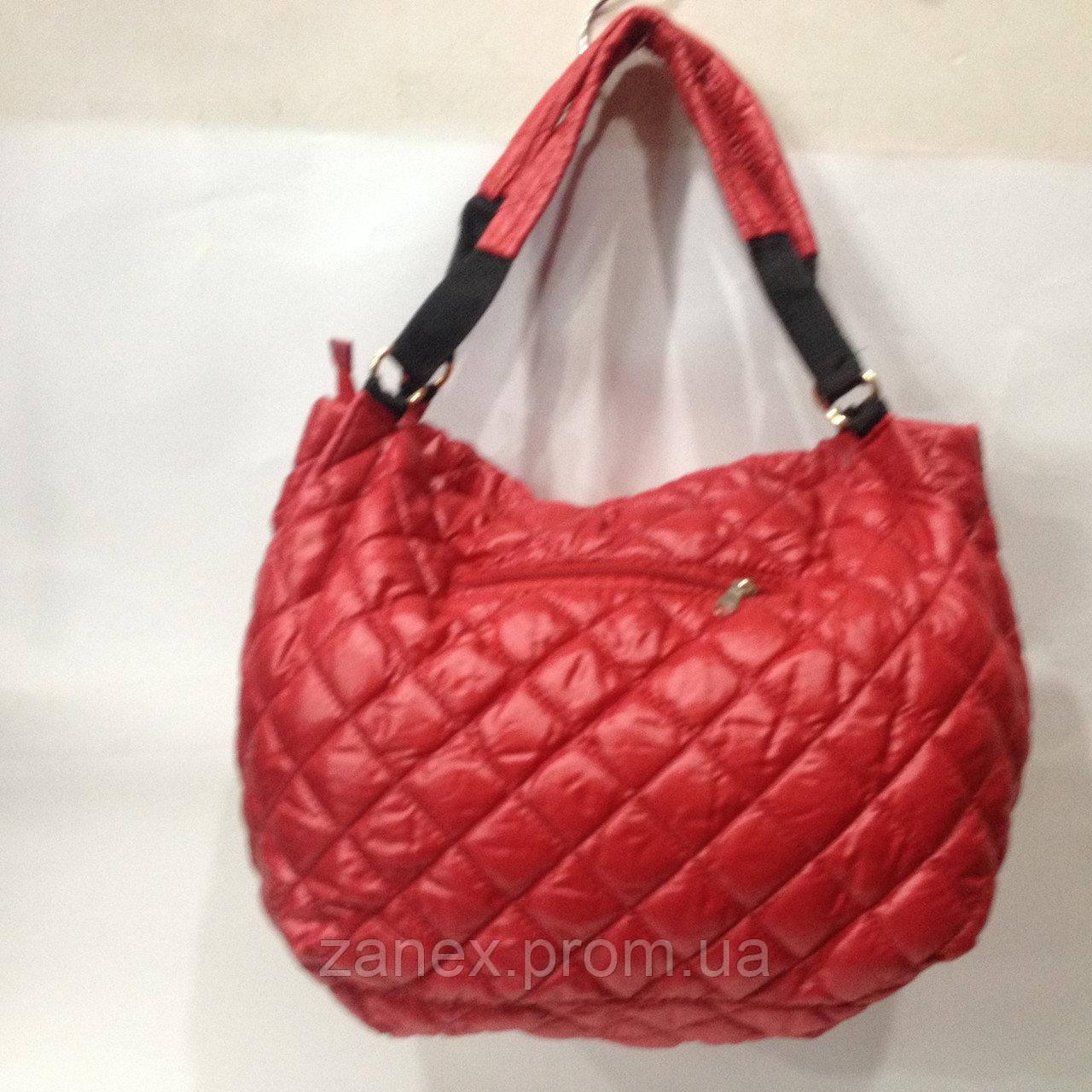 Женская сумка стеганая (красная) Prada