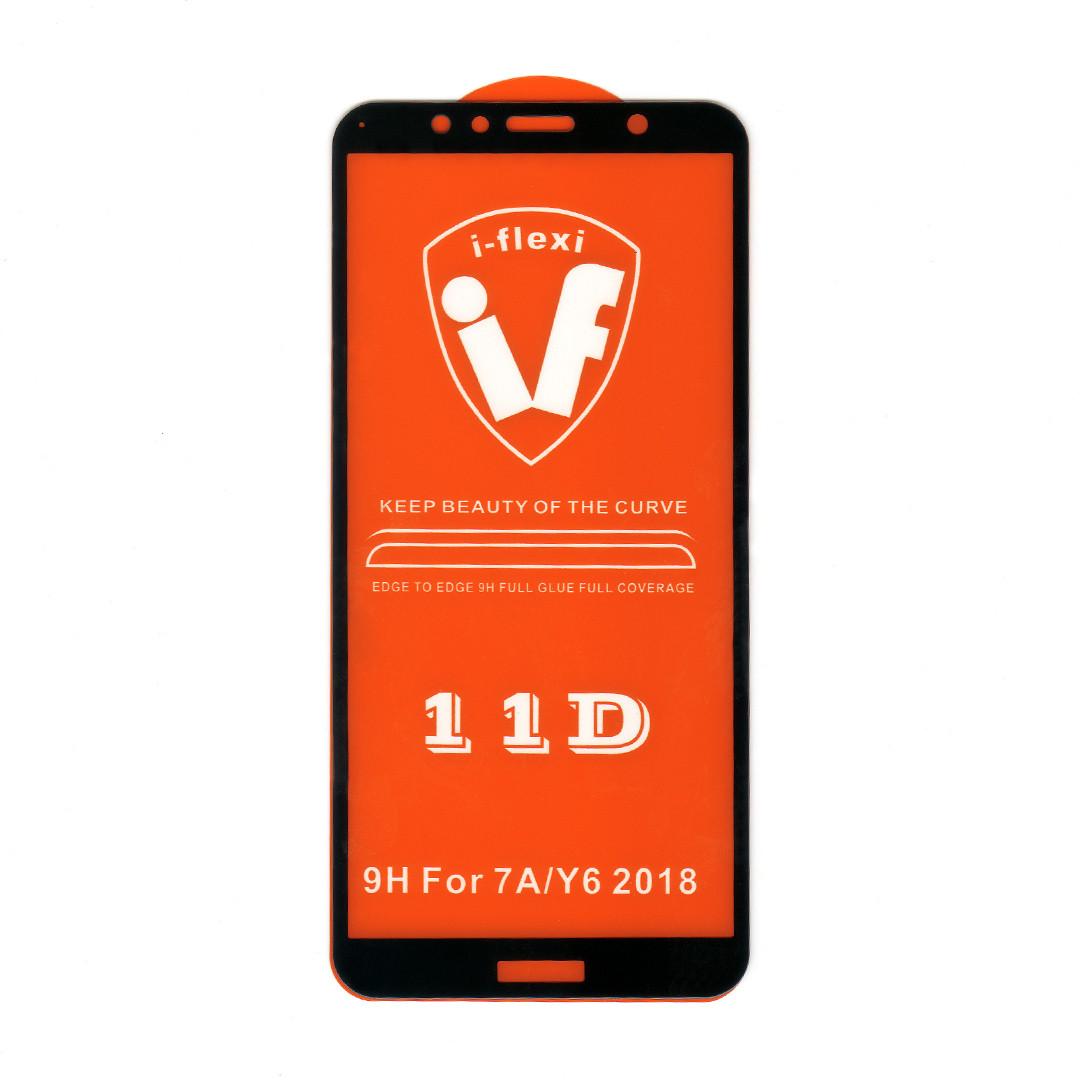 Защитное стекло 2,5D Full Glue для Huawei Y6 Prime 2018 (ATU-L31) (black) (клеится всей поверхностью)