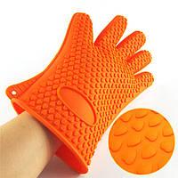Жаропрочные силиконовые кухонные рукавицы перчатки antiscald gloves 2 шт