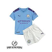 Детская футбольная форма Манчестер Сити (домашняя), сезон 2019-2020. Элитный полиестер.