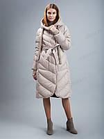 Коллекция зима, куртка пуховик Сlasna с вязанным декором CW19D-107 L, XXL