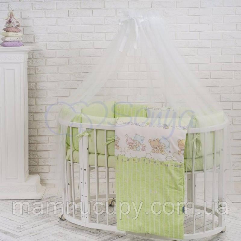 Комплект постельного белья в овальную кроватку Baby Design Малыши в шапочках ТМ «Маленькая Соня»