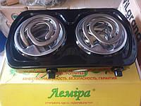 Электроплита настольная двухконфорочная спиральная тостый ТЭН Лемира (Украина) 2000W