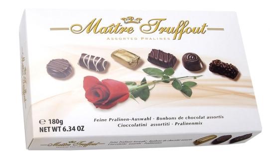"Шоколадные пралине Maitre Truffout ""Ассорти Rose""  180 гр"