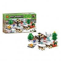"""Конструктор Bela 11027 (Аналог Lego Minecraft) """"Новый год прогулка на оленях"""", фото 1"""
