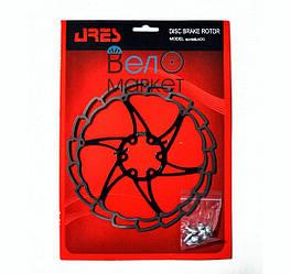 Ротор/ гальмівний диск DISK ARES 180ММ SG18 під 6-ть болтів, 180мм. чорний