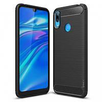 Защитный чехол iPaky Slim с карбоновыми вставками для Huawei Y7 (2019) / Huawei Y7 Prime (2019) (выбор цвета)