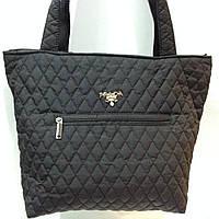 Женская сумка стеганая (черная) Prada