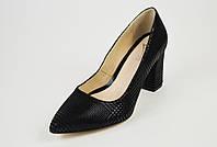Туфли кожаные на каблуке Marco 1066