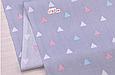 Сатин (хлопковая ткань) треугольник на сиреневом (компаньон к ламам), фото 2