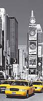 Фотообои на дверь: Такси Нью-Йорк, 86х200 см