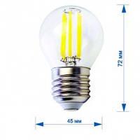 Лампа RIGHT HAUSEN LED Filament ШАР 6W E27 4000K HN-265040