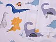 Сатин (бавовняна тканина) дракончики намальовані (90*160), фото 2