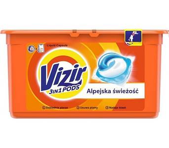 Гелеві капсули для прання Vizir do kolorow 3в1 38 шт.