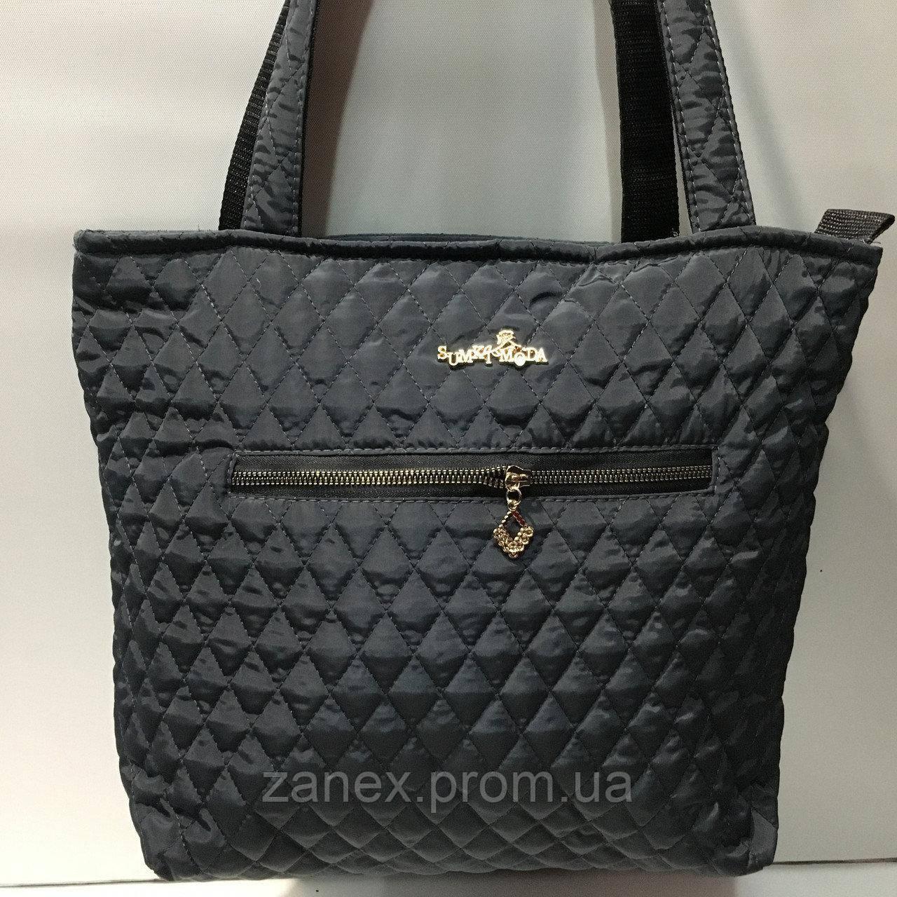 Женская сумка стеганая Ретро (черная)
