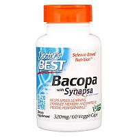 "Экстракт бакопы Doctor's Best ""Bacopa With Synapsa"" 320 мг, здоровье мозга (60 капсул)"