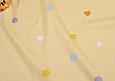 Сатин (бавовняна тканина) квадрати і серця (компаньйон до динозаврів намальованим), фото 3