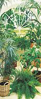 Фотообои на двери Зимний сад, 86х200 см