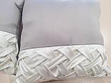 Комплект подушек серые с молочным защипы, 2шт, фото 2