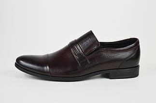 Туфли кожаные мужские бордовые Tapi 6076, фото 2