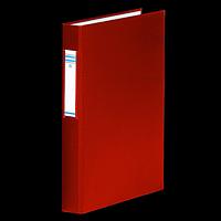 Папка на 4-х кільцях, А4, ширина торця 40мм, змінний індекс, червоний