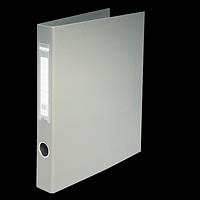 Папка на 2-х кільцях А4 BUROMAX, ширина торця 40 мм, сірий