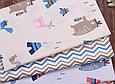 Сатин (хлопковая ткань) медведи индейцы и вигвамы голубые, фото 4