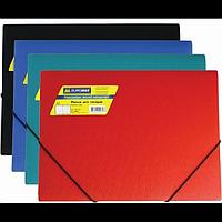Папка пластикова BUROMAX, А4 на гумках, асорті