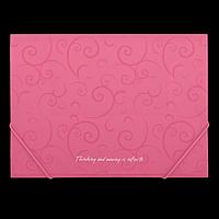 Папка пластикова А4 на гумках, BAROCCO, рожевий