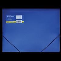 Папка пластикова BUROMAX, А4 на гумках, синій