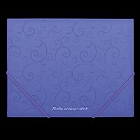 Папка пластикова А5 на гумках, BAROCCO, фіолетовий