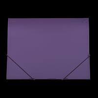 Папка пластикова А4 на гумках GLOSS, фіолетовий