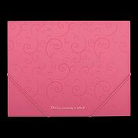 Папка пластикова А5 на гумках, BAROCCO, рожевий