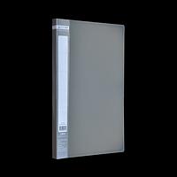 Папка пластикова A4 з боковим притиском JOBMAX, сірий