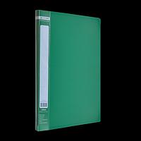 Папка пластикова A4 з боковим притиском JOBMAX, зелений, фото 1